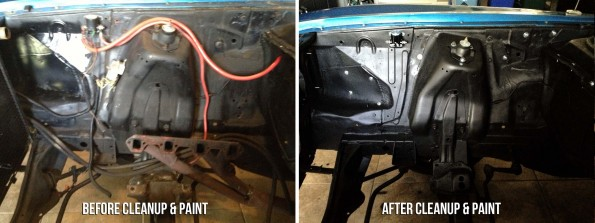 Cleaning Up & Painting the Mustang Engine Bay
