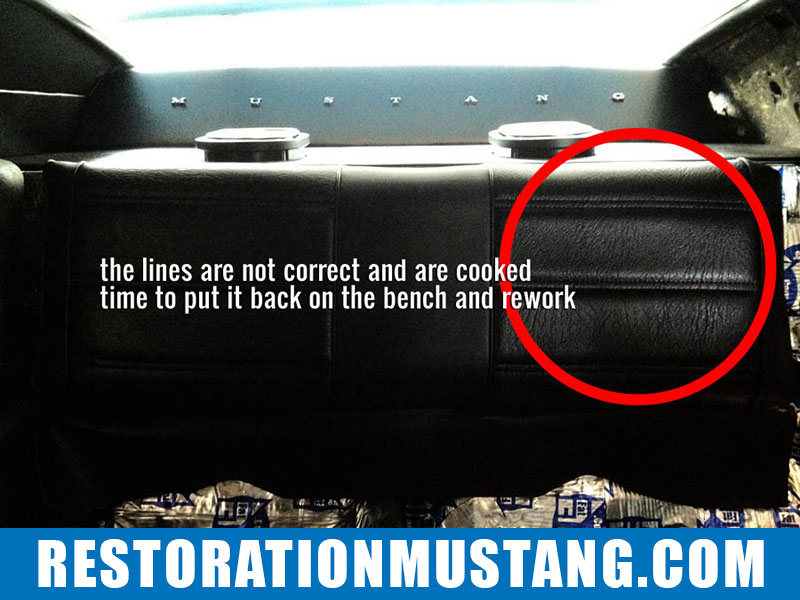 How To Upholster the Upper & Lower Back Seats in 71 72 73 Mustang Fastback