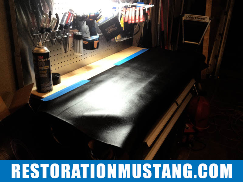 Making an upper package tray upholstered for the 71 72 73 Mustang Fastback