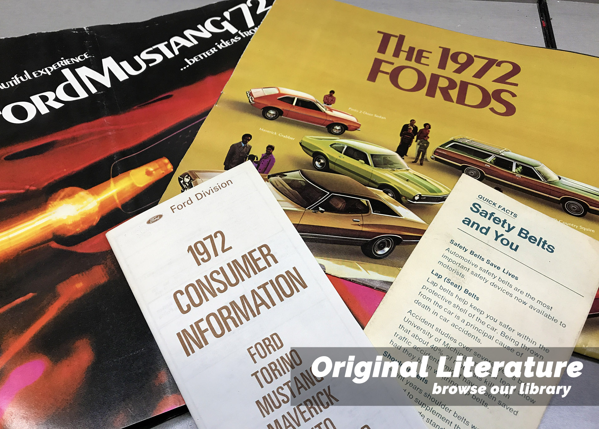 Original Mustang Literature Brochures & Documents