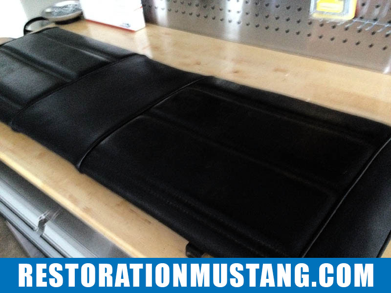 How To Reupholster the back seats in the 71 72 73 Mustang Fastback