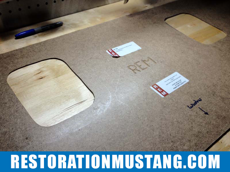 Upholstering package tray adding vinyl 71 72 73 mustang fastback